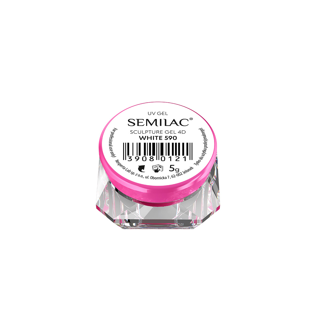 590 Semilac Sculpture Gel 4D White 5 g