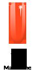 554 Lakier hybrydowy Semilac Loud Mandarine 7ml