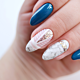 Marble nails in a luxury version